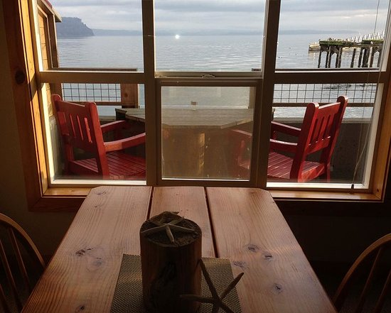 Boatyard Inn: View from room's dining table