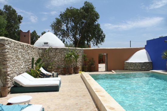Riad Baoussala: the pool - within its own walled area