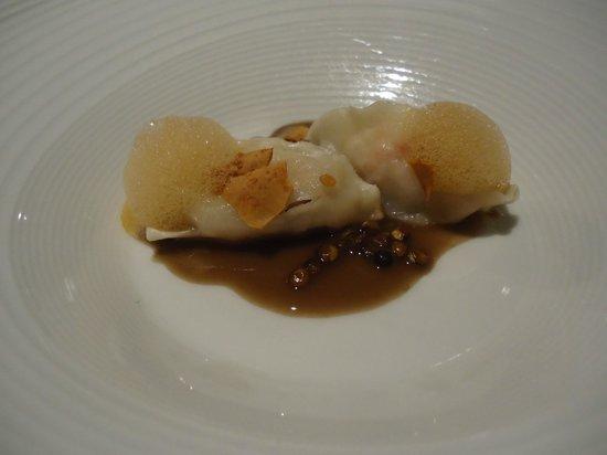 Osteria Francescana : raviole gambas / lentilles
