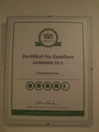 Gartenhotel  Daxer: награда