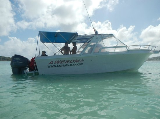 Captain Alan's Three Island Snorkeling Adventure: Awesome waiting for us at Pinel Island