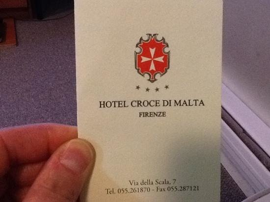 Croce di Malta Hotel: not a four star hotel for me