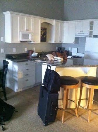 Rivertide Suites: Kitchen area