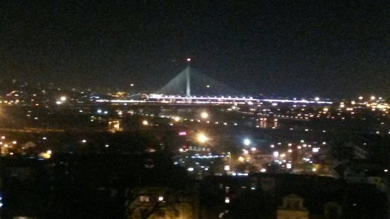Balkan Orient Express Hotel: Night view from room 505