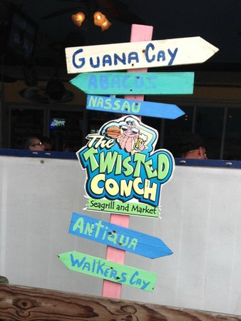 Twisted Conch: sign out front