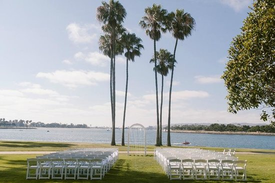 Our wedding ceremony site facing the bay - Picture of The