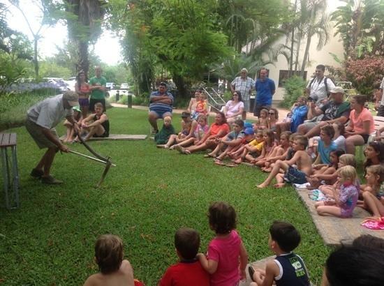 Sabi River Sun Resort : reptile show att he hotel