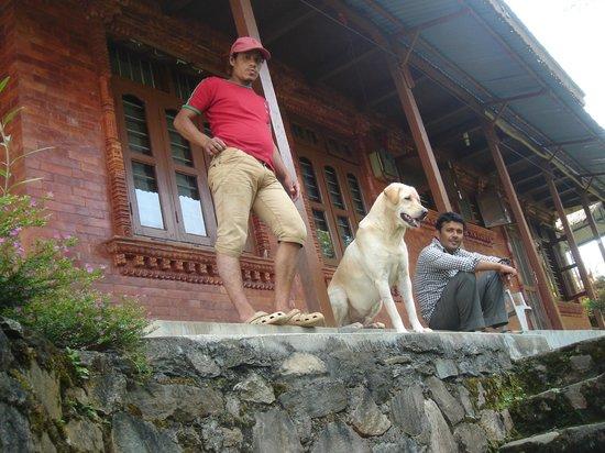 Rupa View Guest House: Damodar (right), host