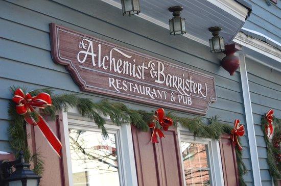 The Alchemist & Barrister Restaurant: dressed for winter
