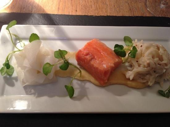 The Restaurant at St Paul's: confit salmon