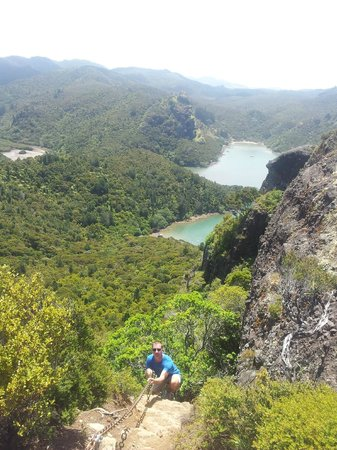 Whangaroa Harbour: Final Climb to top of Dukes Nose