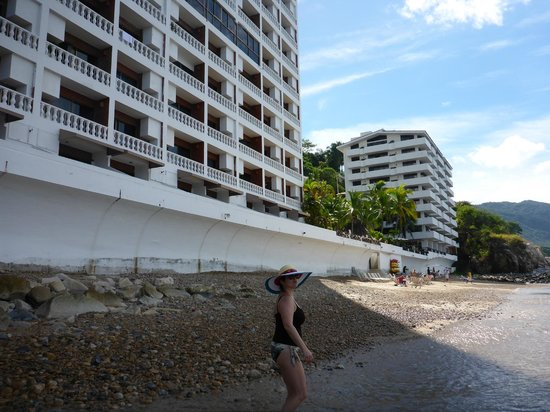 Costa Sur Resort & Spa: The two towers of Costa Sur from the beach.