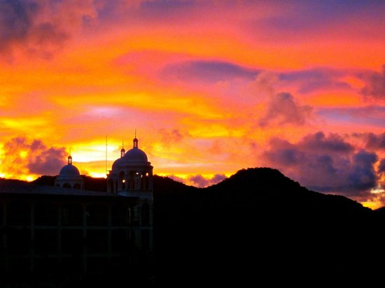 Hotel Riu Palace Costa Rica : Sunset from the coffee cafe
