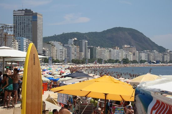 Arena Copacabana Hotel: view from beach