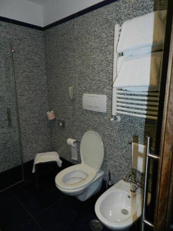 Best Western Plus Hotel Universo : baño con toallero electrico