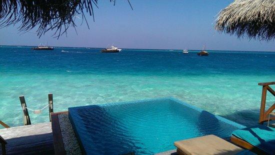 Huvafen Fushi Maldives: Lagoon view from # 22