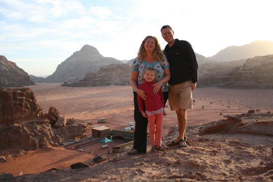 Wadi Rum Green Desert: The view after climbing the rocks behind the camp