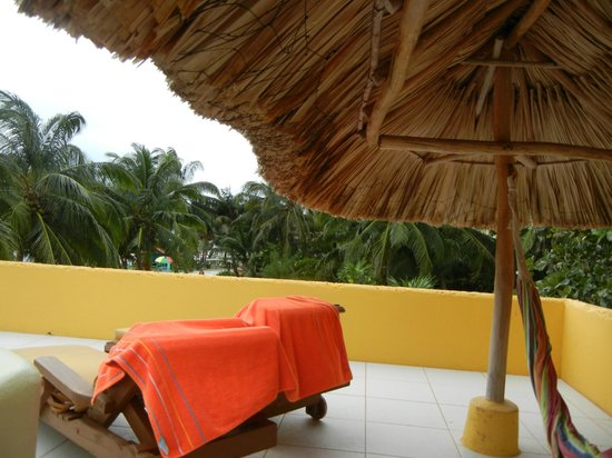 Seaside Cabanas: Our private rooftop!