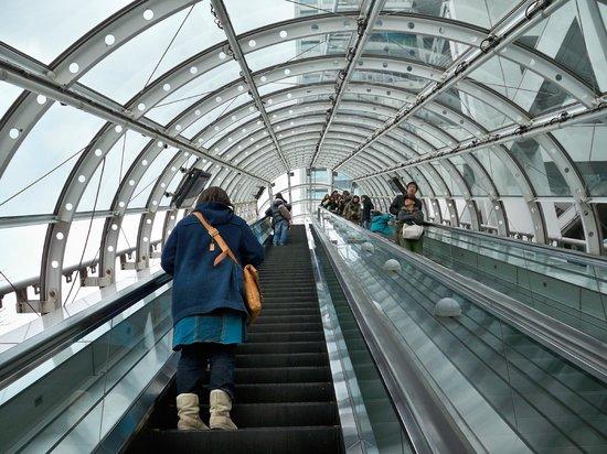 Fuji TV Odaiba: Entering the building