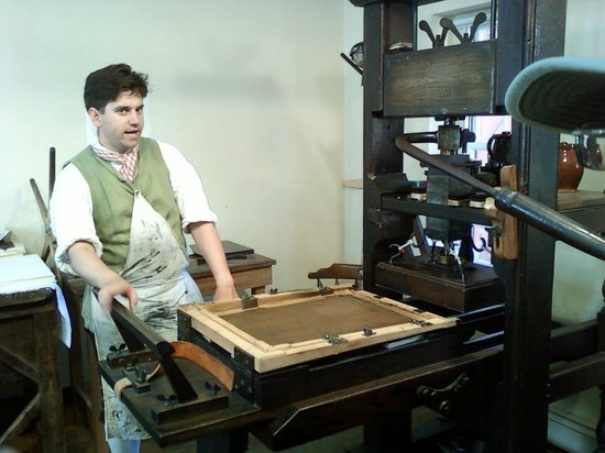 The Printing Office of Edes & Gill: Colonial Printing Demonstration