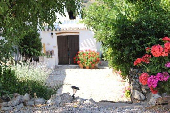 Cortijo Las Rosas: entrance to the yard of Casita Liebre