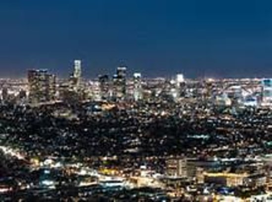 LA City Tours : Hollywood overlook night