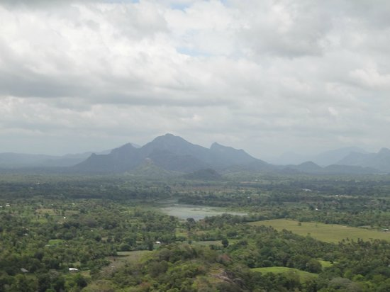 Hotel Sigiriya: view from Sigriya rock