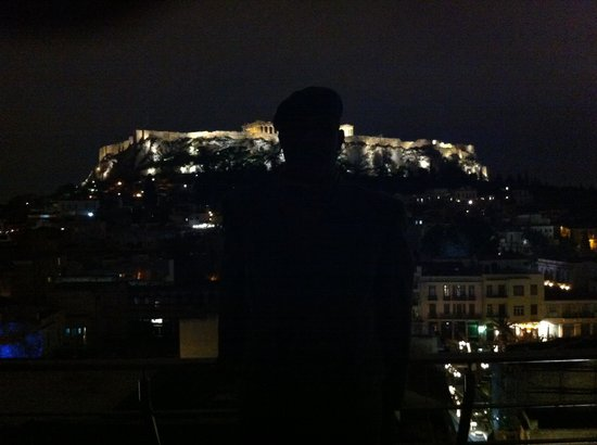 Plaka Hotel : The Acropolis by night from the Plake hotel terrace ��������������������