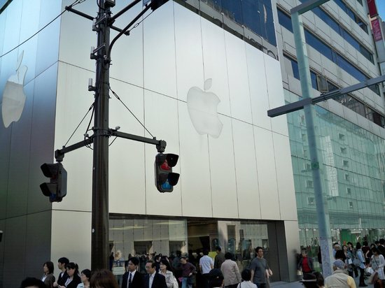 Ginza: Apple's famous brand
