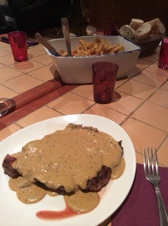 Restaurant de l'Etoile: Entrecote peper