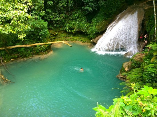 Dunn's River Falls and Park: Blue Hole