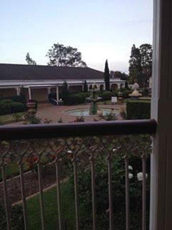 Kirkton Park Hotel Hunter Valley: View from my Dining balcony