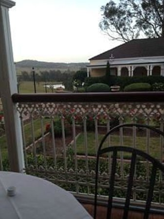 The Sebel Kirkton Park Hunter Valley: View from Balcony having dinner