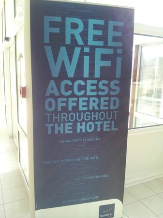 Novotel Budapest City: Great - Free wifi - worked superbly - Well done Ciy Hotel
