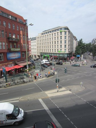 The Circus Hotel: The view from our room to Rosenthaler Platz
