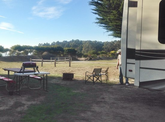 Santa Cruz North / Costanoa KOA: Rear of our site facing ocean in distance