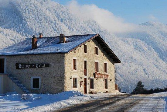 Auberge Le Collet : Auberge Vercors en hiver