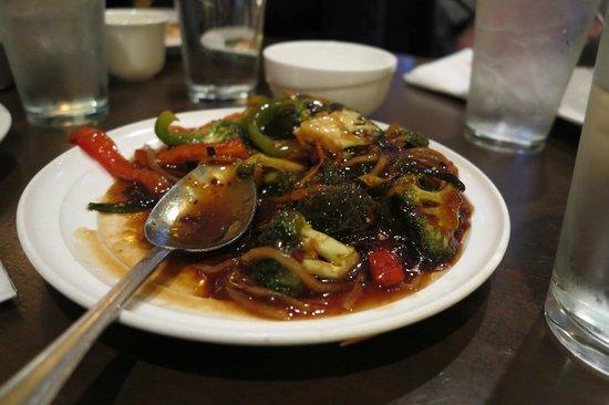 "Ming's Restaurant: Vegetarian ""Pork"" with Hot Garlic Sauce"