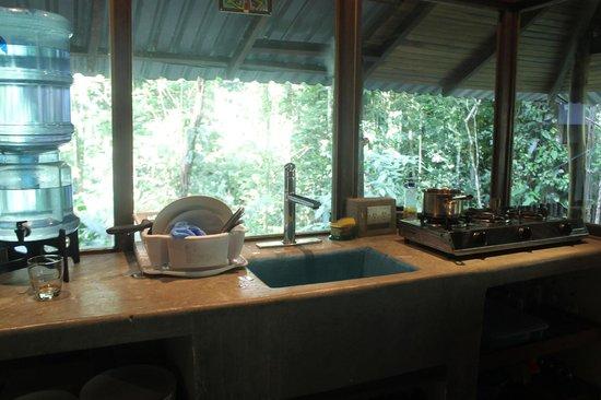 El Arbol: The kitchen area.