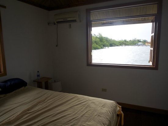 Bocas Villas: no blinds in bedroom