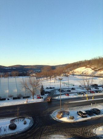Mountaineer Casino Racetrack & Resort: View from parking lot across resort