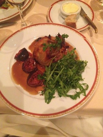 Duck in filo with figs at La Maison du Jardin - Picture of ...