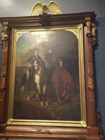 The White House and Museum of the Confederacy: The famous picture of General Lee and President Davis
