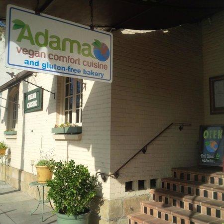 Adama Vegan Comfort Cuisine: Front of restaurant