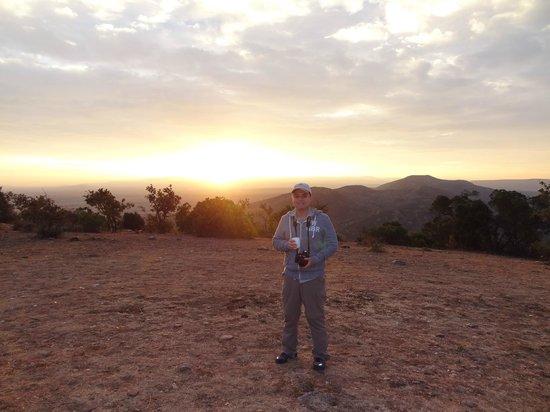Mara Bushtops : Bushtopd breakfast - sunrise over the masai mara