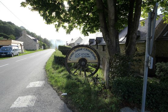Ferme Saint Christophe as viewed from the road.