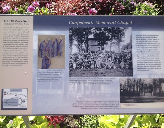 Monument Avenue: The historical board outside the Confederate Memorial Chapel