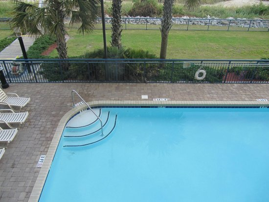 Grand Atlantic Ocean Resort: View at the outside pool from our 2 bedroom suite