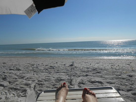 Glorious day on the beach at West Wind Inn