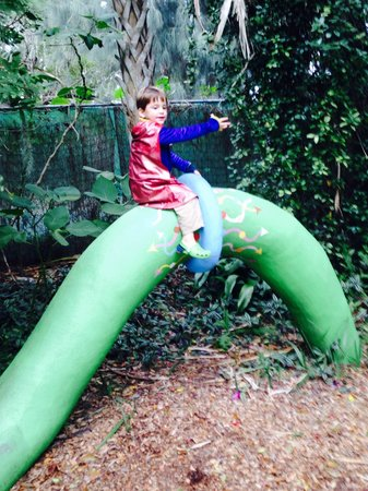 The Children's Garden: Defeating the dragon (just a small part of him!)